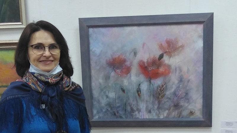 """Картина """"Маки в тумане"""" на выставке """"Весенний вернисаж"""""""""""""""