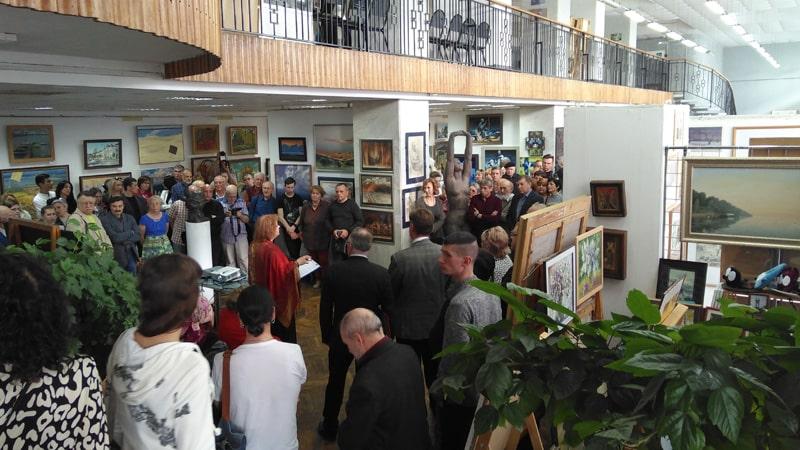 Открытие выставки к 80-летию создания Волгоградского отделения союза художников России.