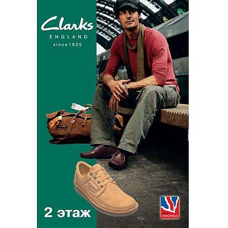 рекламного плаката обуви фирменной обуви Clarks