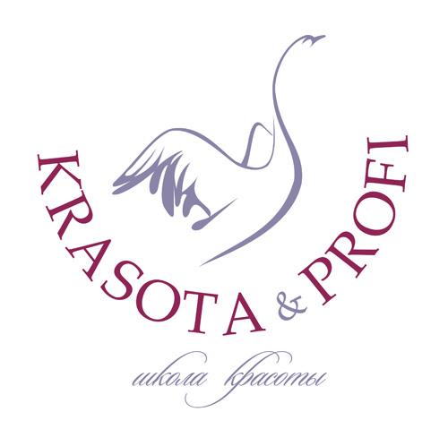 """Фирменный знак разработан для школы красоты """"KRASOTA & PROFI"""""""