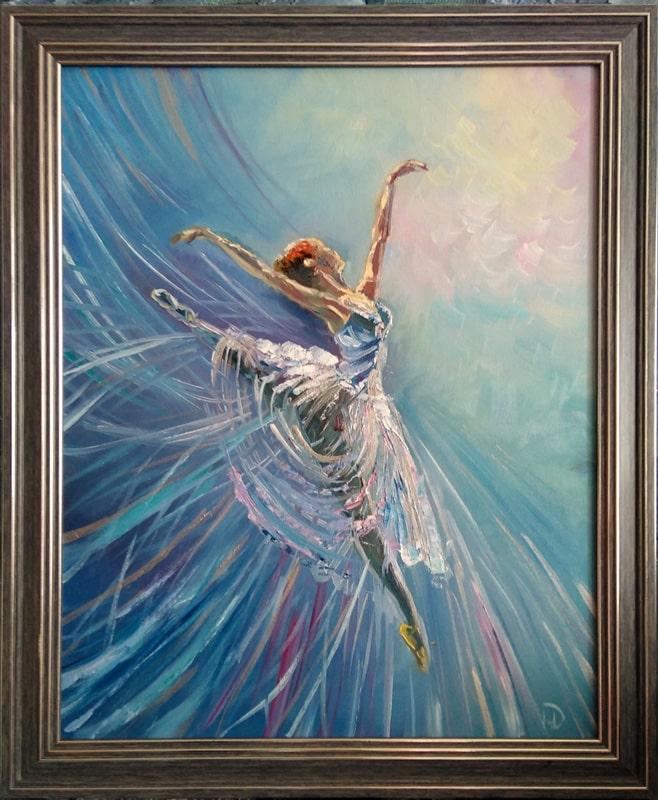 "Картина ""Балерина"" в раме"