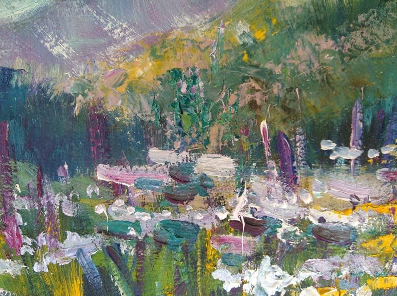 """Фрагмент картины """"Цветы в горах"""""""